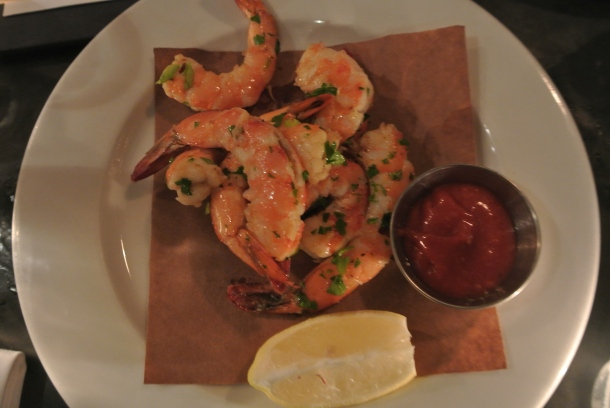 Appetizer - peel n' eat shrimp.