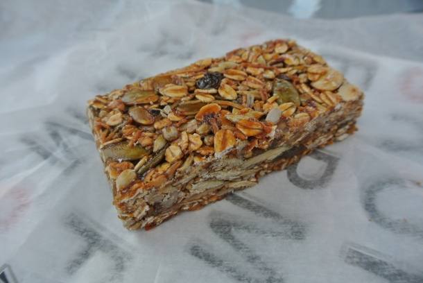 Homemade granola bar.