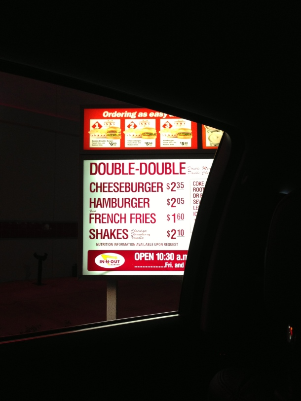 In & Out menu.