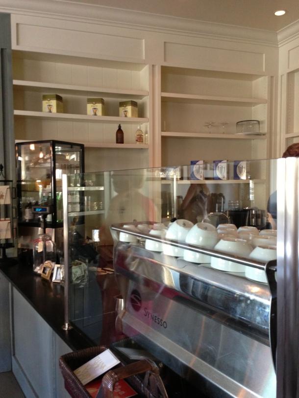 Inside Caffe Luxe.