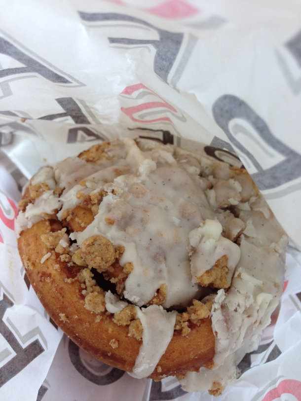 Delicious cinnamon bun from the Farm Shop bakery.