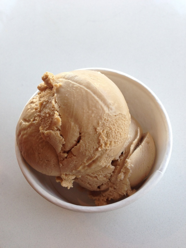 My double scoop of organic ice cream - one scoop of Old Rasputin Stout and one scoop of Earl Grey tea ice cream.