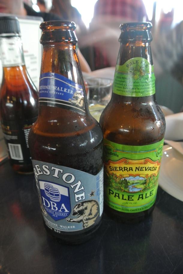 Local craft beer - Firestone and Sierra Nevada.