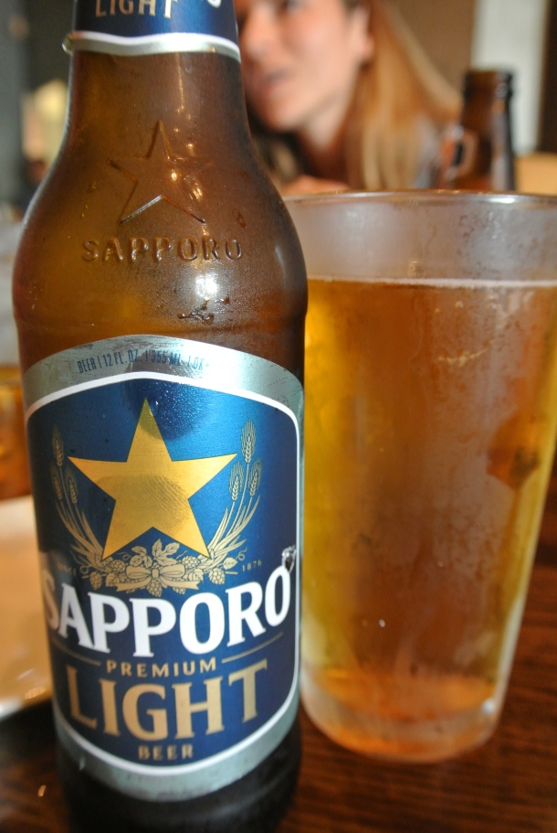 My new favourite beer - Sapporo Light.