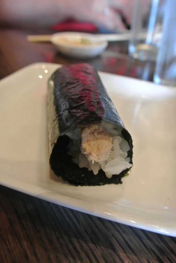 Dish 9 - crab hand roll.