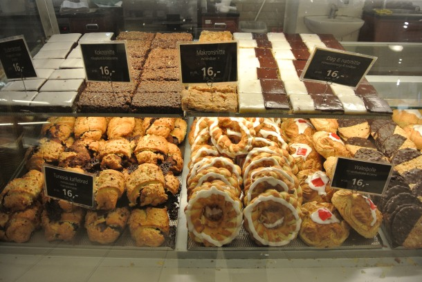 So many pastries to choose from - my favourite, the ringed pastry with white icing.