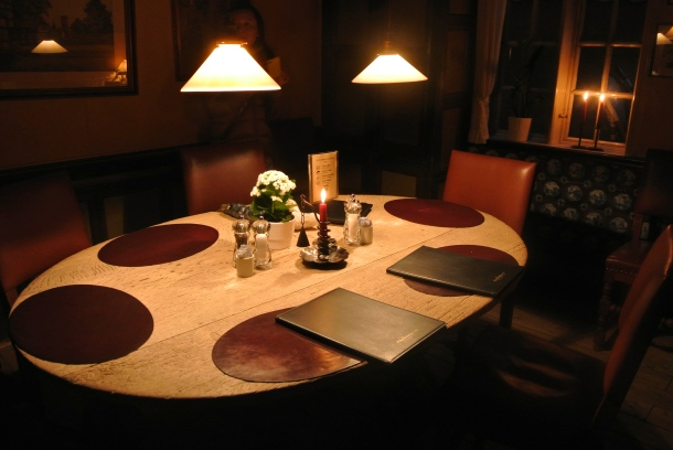 Our private dining room at the Weis Stue.