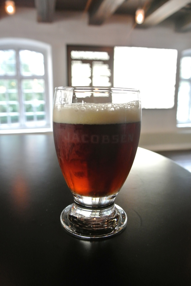 The first sample as I begin the tour.  The original recipe, Jacobsen's dark lager.