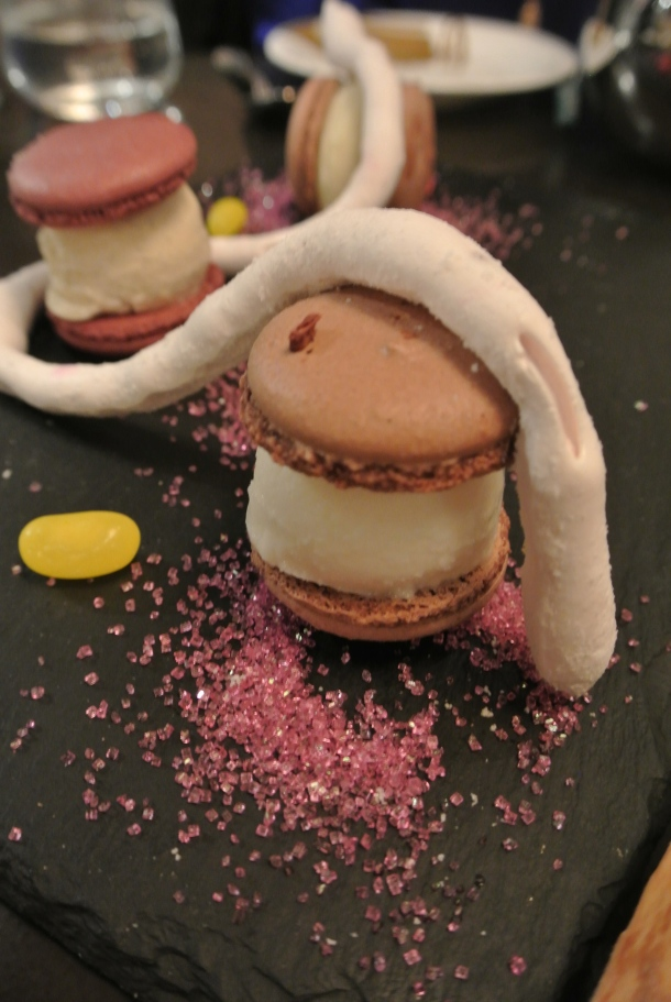 Macaron ice cream sandwiches, all made in house.