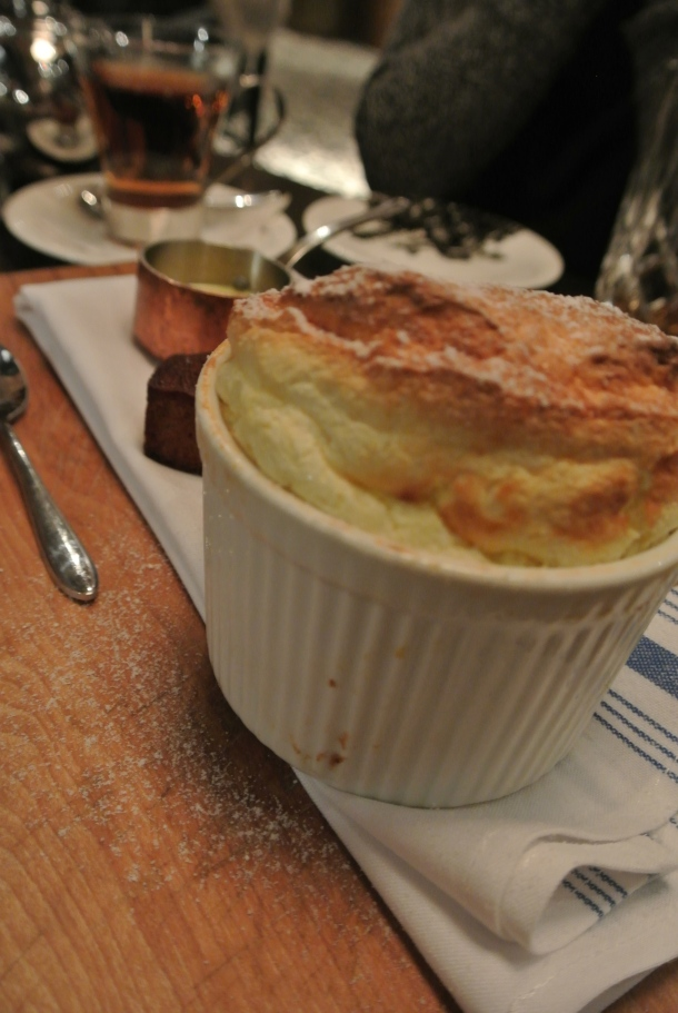 Look at that height on the passion fruit souffle!
