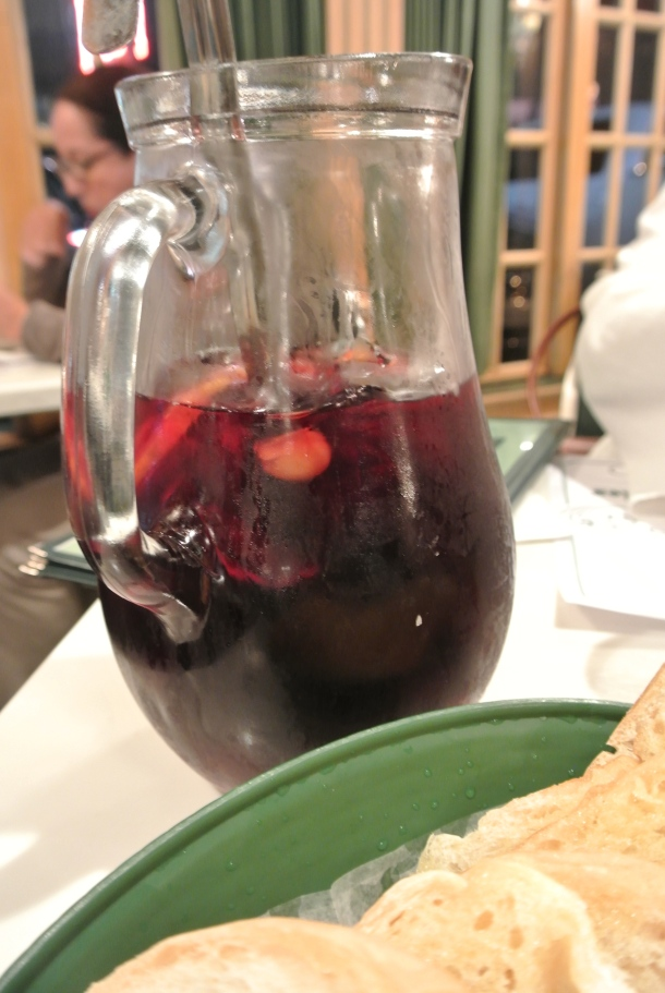 Pitcher of sangria to start.