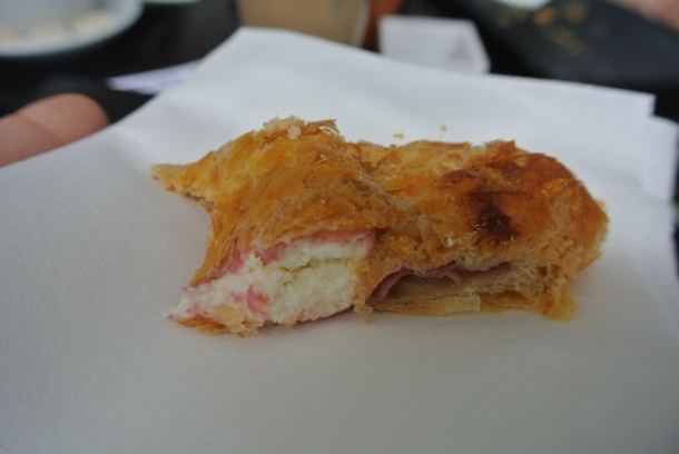 Deliciously light guava and cheese pastry.