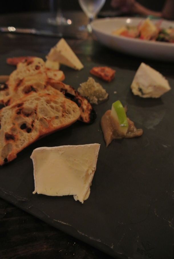 Cheese plate - Bayley Hazen blue cheese, Aged goat cheese and truffle gouda.