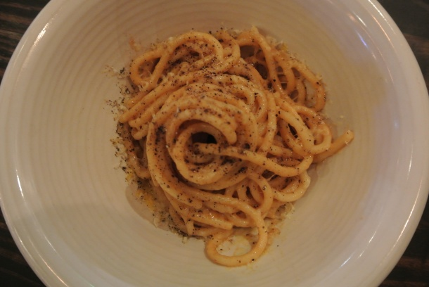 Bucatini with uni butter and parmigiano-reggiano.