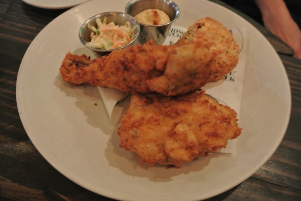 Fried Chicken, cheddar biscuits and creamy coleslaw.