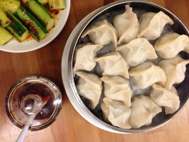 Pork and napa steamed dumplings.