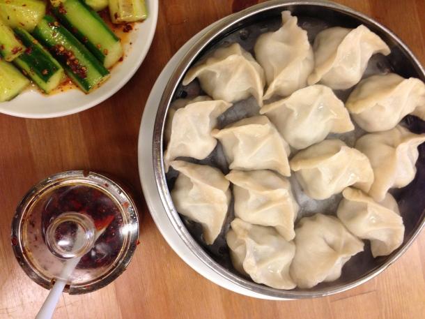Pork and napa steamed dumplings.