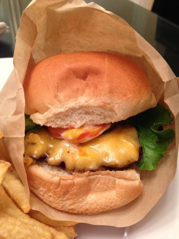 The classic cheeseburger.