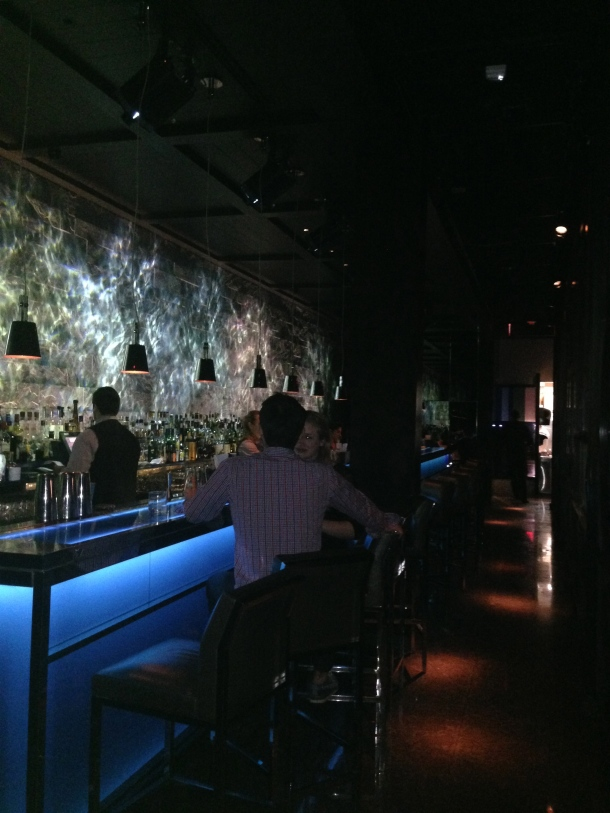 Inside the bar area at Hakkasan.