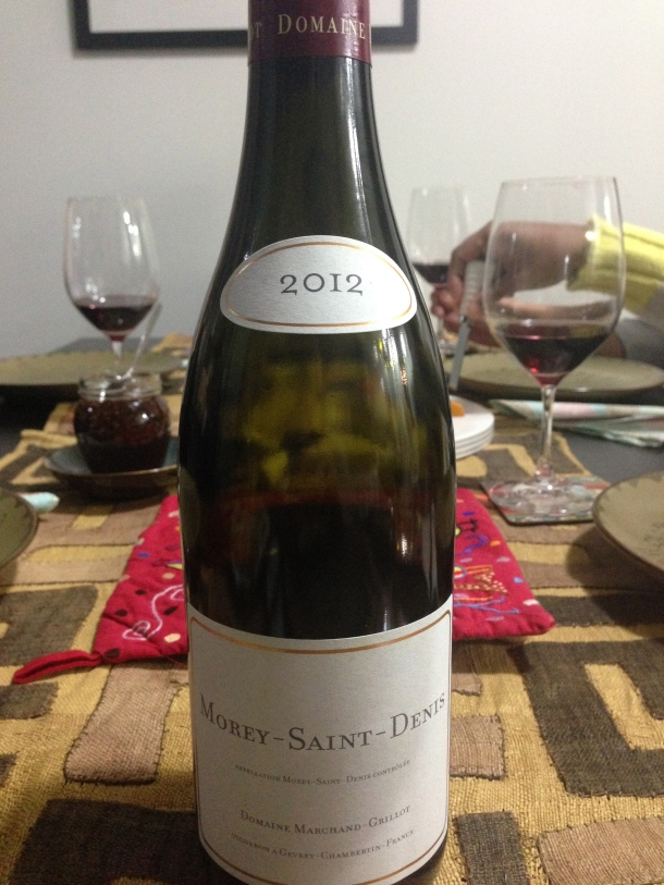 Wine #1 - Morey Saint-Denis 2012.