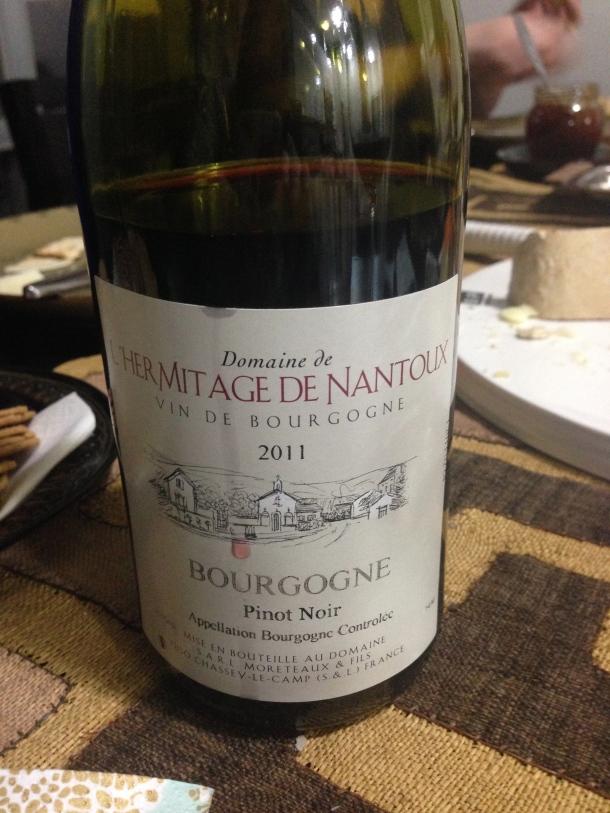 Wine #2 - Domaine de Hermitage de Nantoux 2011.