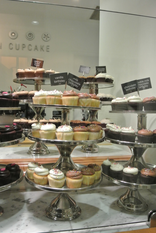 The beautiful display of cupcakes.  So many to choose from.