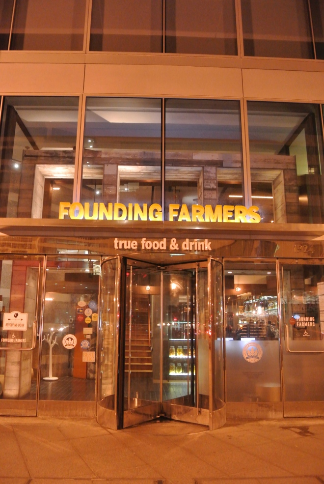 Founding Farmers located in Washington DC.