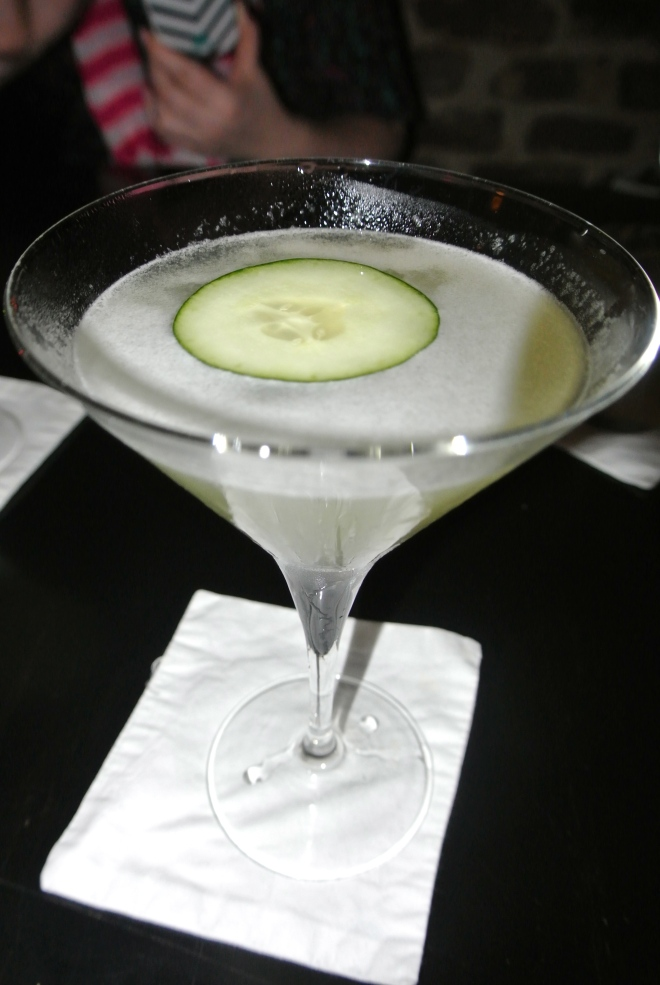 Another gin based cocktail made with cucumber.