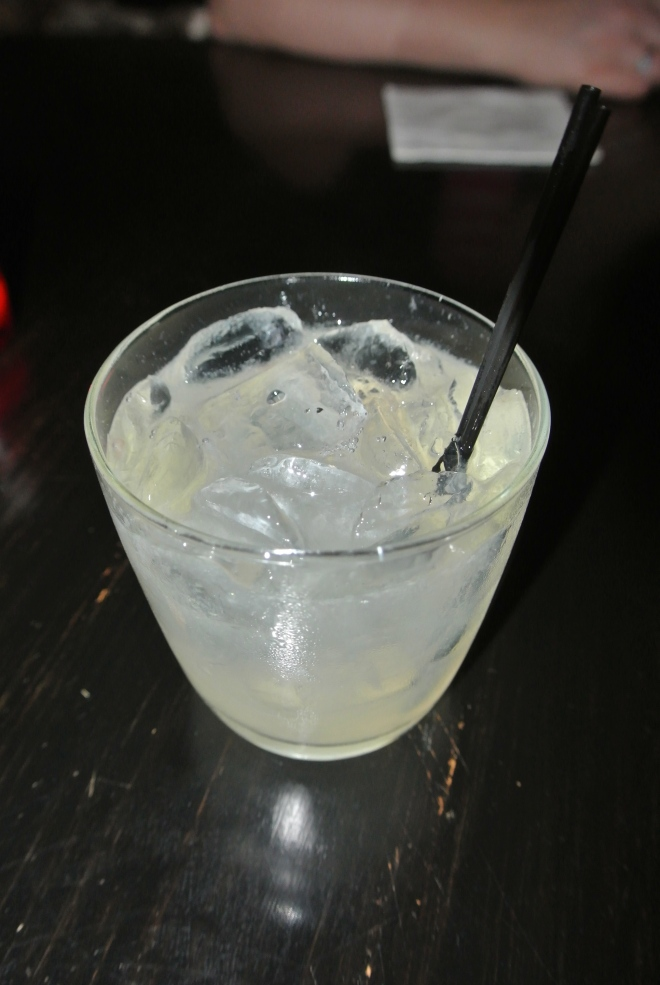 Gin based cocktail.