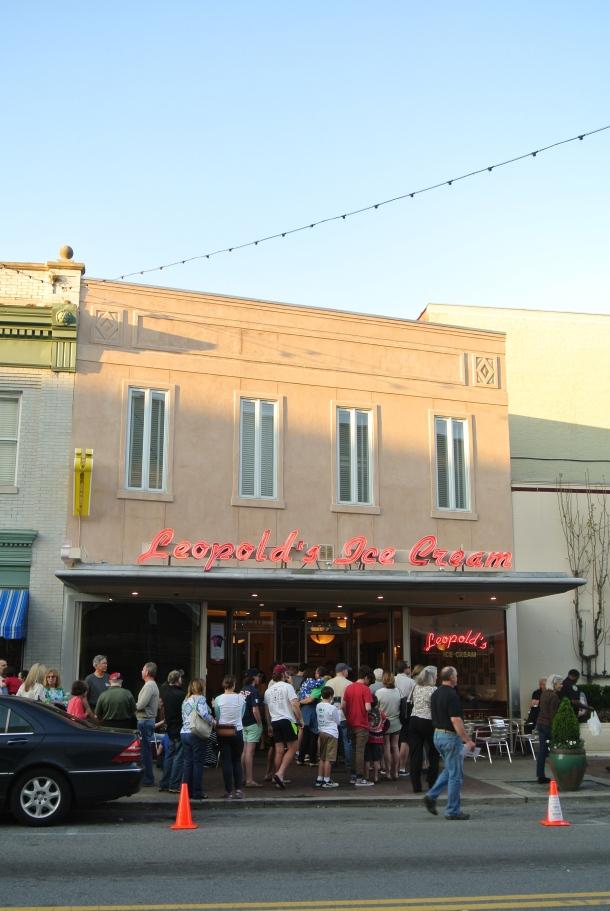 Leopold's Ice Cream parlour.
