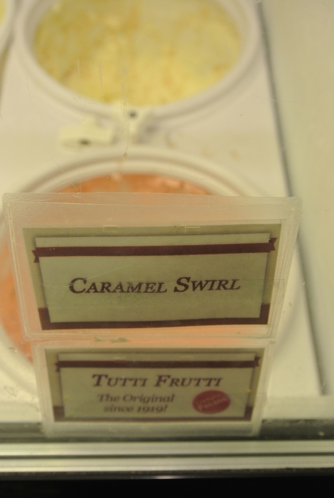 One of Leopold's original flavours, Tutti Frutti.
