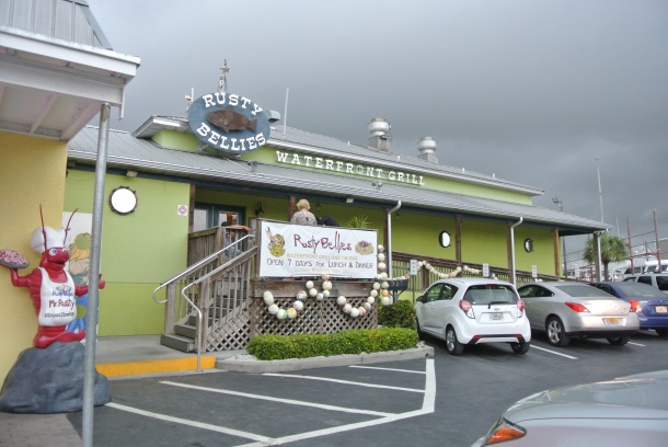 Attached to the seafood store is Rusty Bellies, a popular restaurant along the Sponge docks.