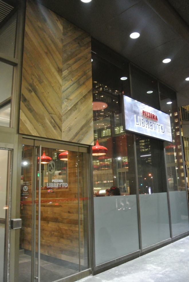 The most recent outpost of Pizzeria Libretto in the financial district.