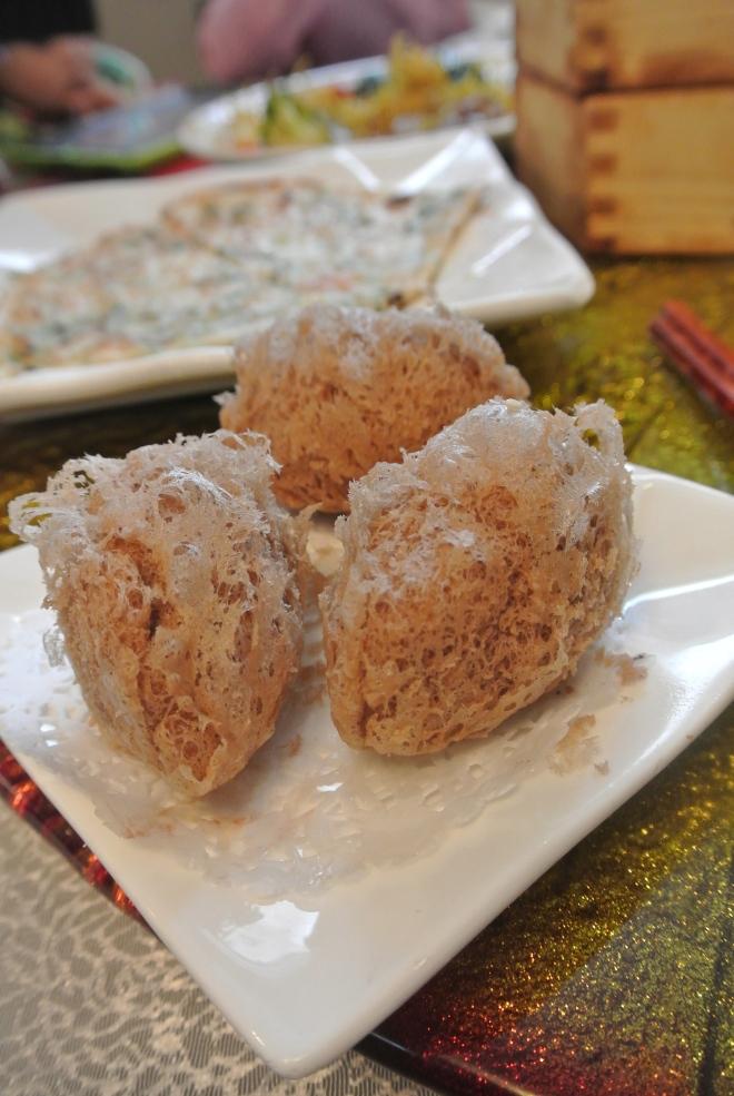 Crispy taro dumpling.