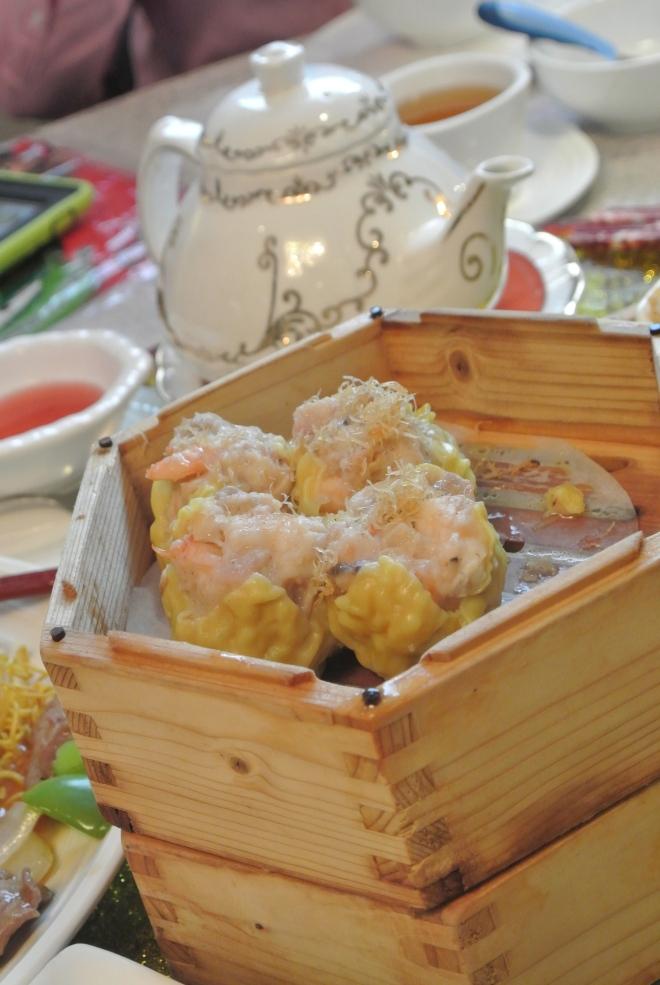 Siu Mai - shrimp and pork dumpling with Conpoy.