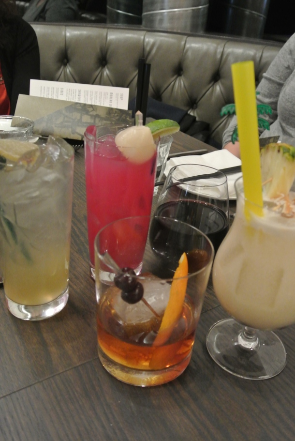 Starting the night off right with a variety of cocktails.