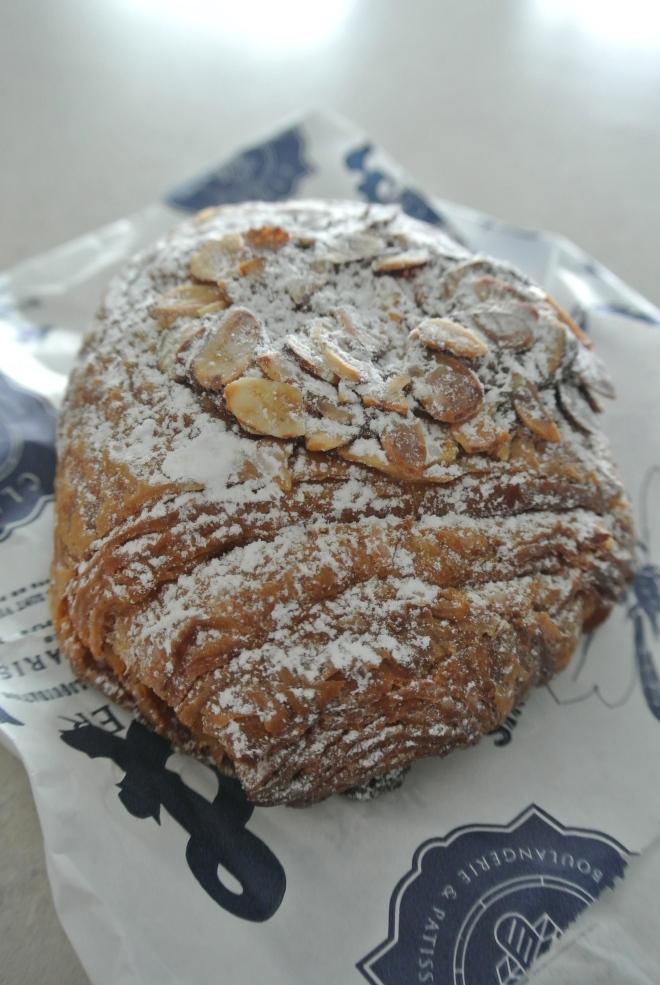Rum, chocolate almond croissant.