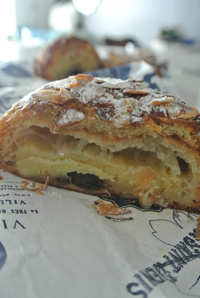 The many layers inside Cluny's rum and chocolate almond croissant.