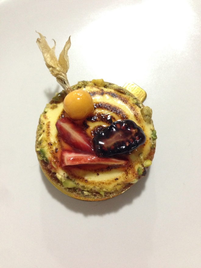 Passionfruit tart.