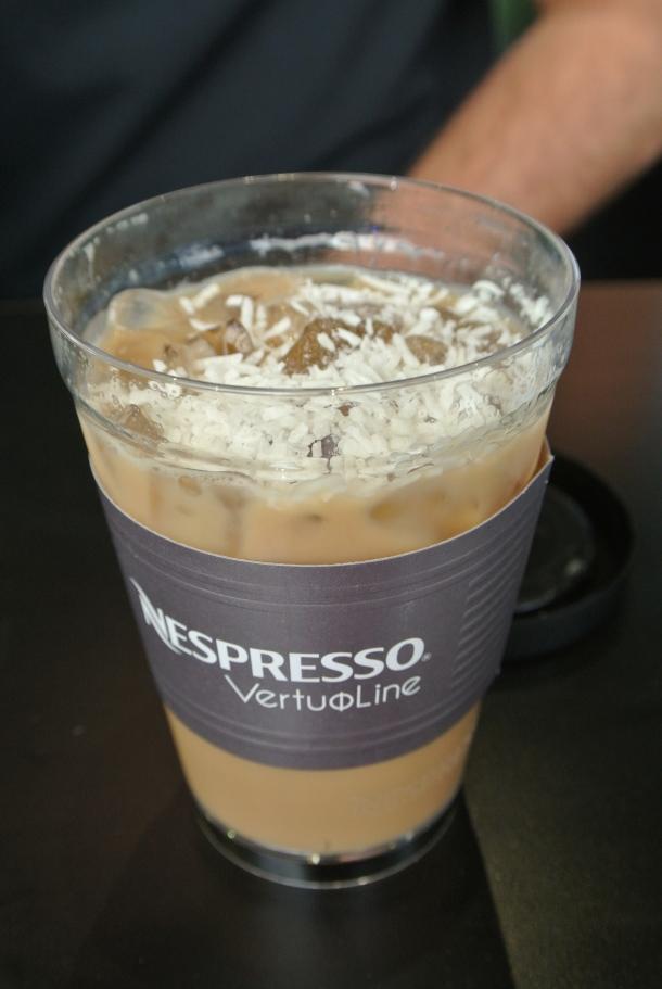 Nespresso's coconut iced coffee.