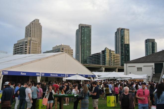 Restaurant tents at Taste of Toronto.