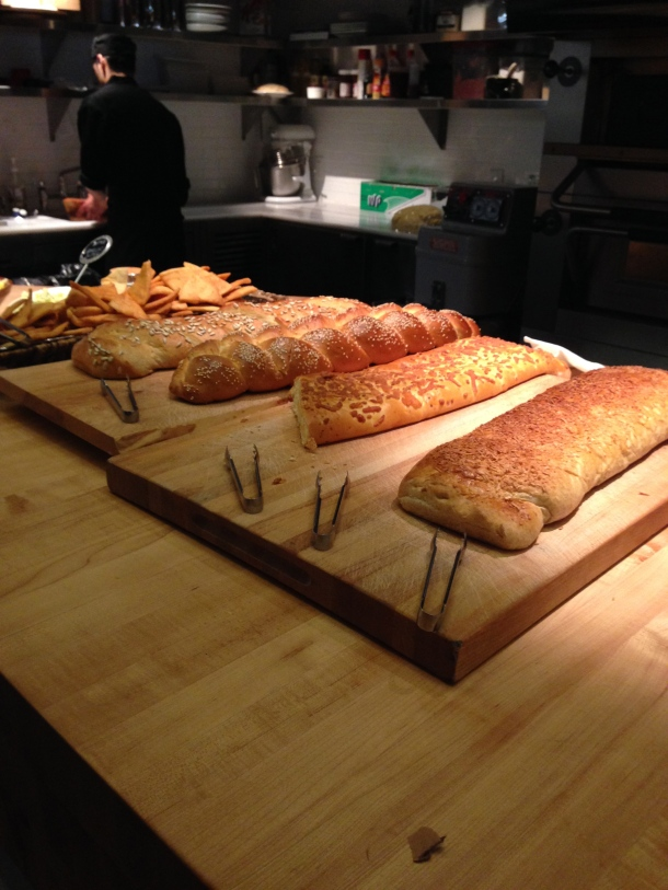 The bread station.