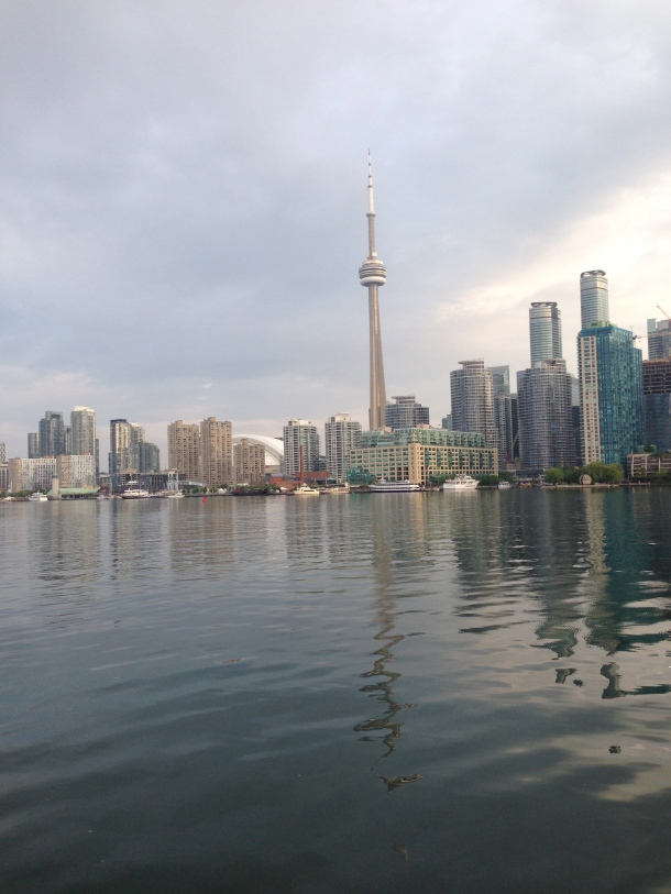 On the ferry heading to Toronto Centre Island.