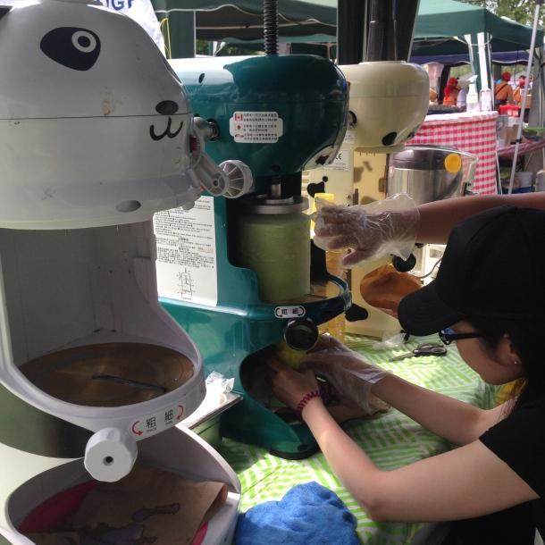 Shaved ice machines - love the panda machine.