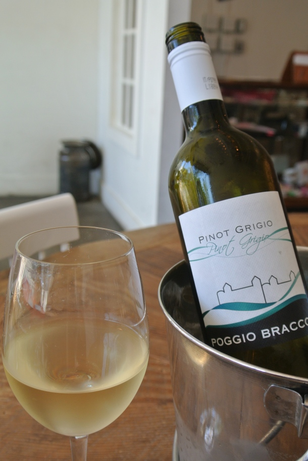 Some pinot grigio to start the night.