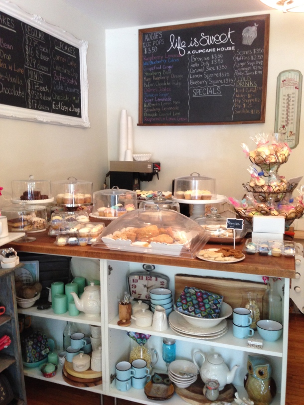 The bakery counter.