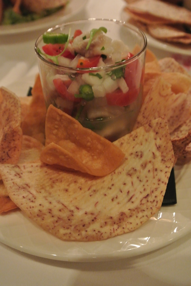 Ceviche Tradicional - cod, pico de gallo, serrano and lime.