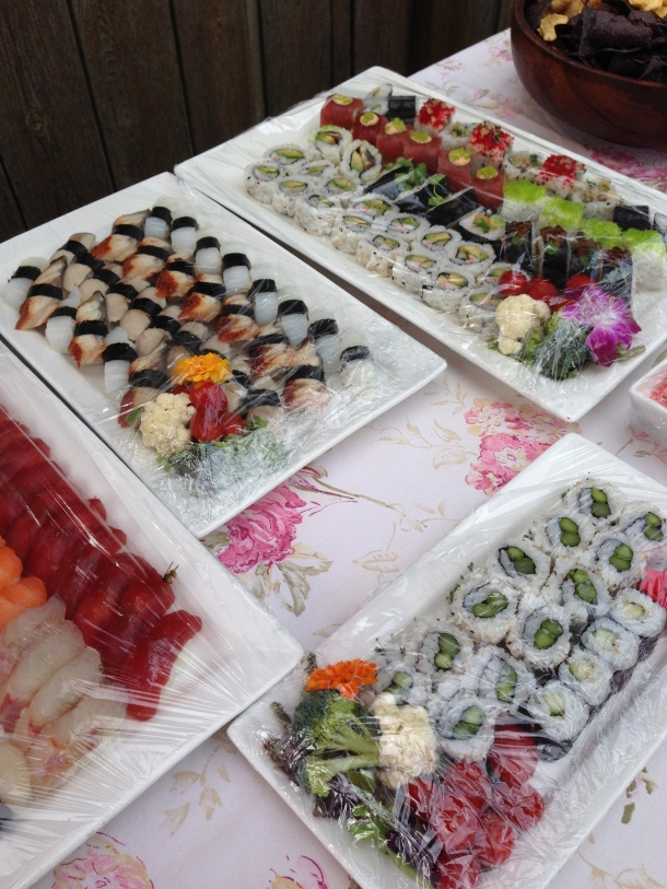 Delicious assortment of sushi.