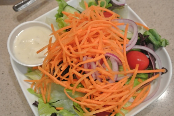 House green salad that comes with all entrees.