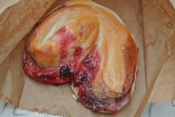 Cherry danish that's a bit more bread like than pastry.